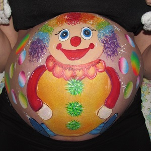 clown belly painting