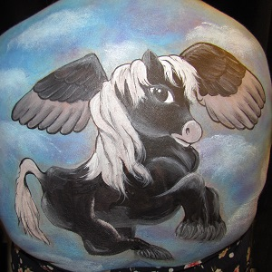 pegasus belly painting