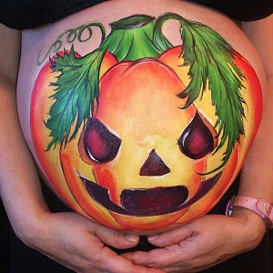 pumpkin belly painting