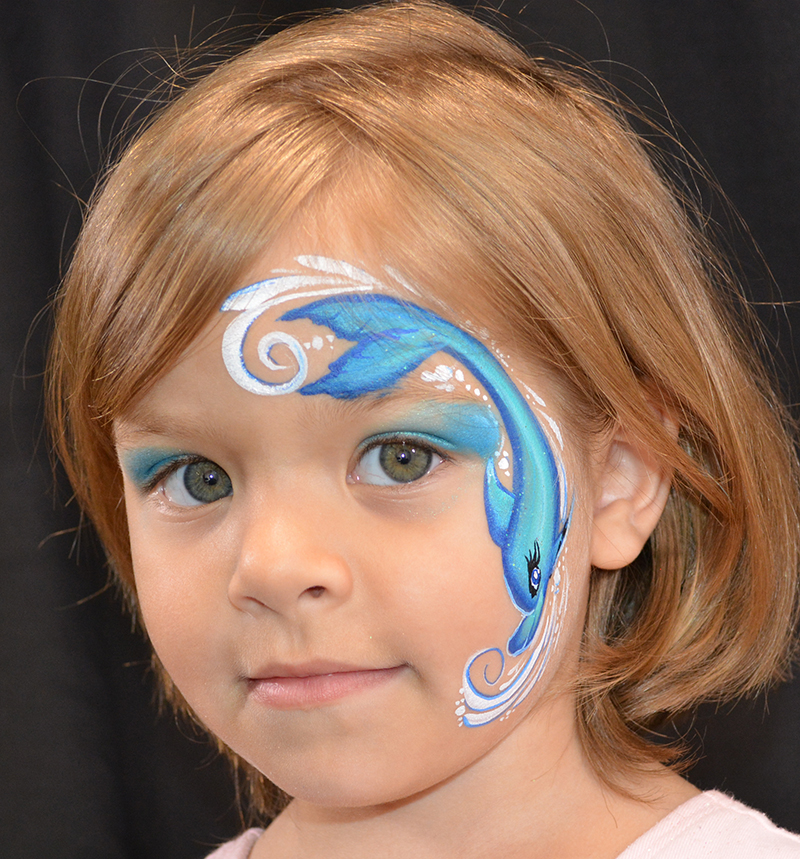 Dolphin Face Painting Images