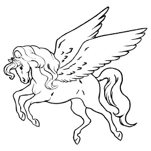 PEGASUS - Colouring Page