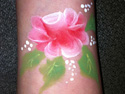 Face Painting Gallery - Rose face painting design