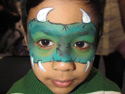 Face Painting Ideas - Green Dragon Face Painting