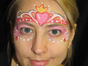 Face Painting Ideas - Heart Princess