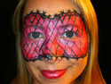 Face Painting Ideas - Pink Mask
